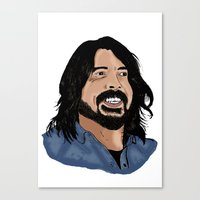 dave grohl Canvas Prints featuring Dave Grohl - Fan Art by Matty723