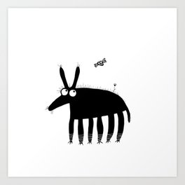 Buff and a fly Art Print