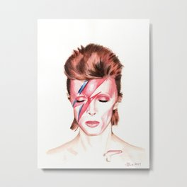 David Bowie. Aladdin Sane. Album Cover. Watercolor painting. Metal Print