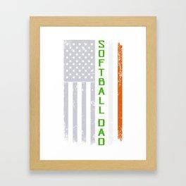 Irish American Softball Dad St. Patrick's Day Framed Art Print