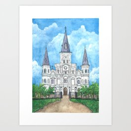 Jackson Square, New Orleans Art Print
