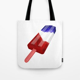Popsicle Red White and Blue Tote Bag