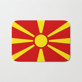 National flag of Macedonia - authentic version Bath Mat