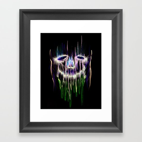 Face Illustration 4 Framed Art Print