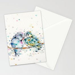 Mr & Mrs Snugglepots [pacific parrotlets] Stationery Cards