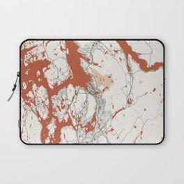 Bergen City Map of Vestland, Norway - Bohemian Laptop Sleeve