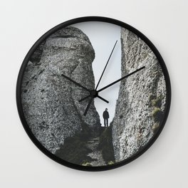 Hiking in the autumn Wall Clock