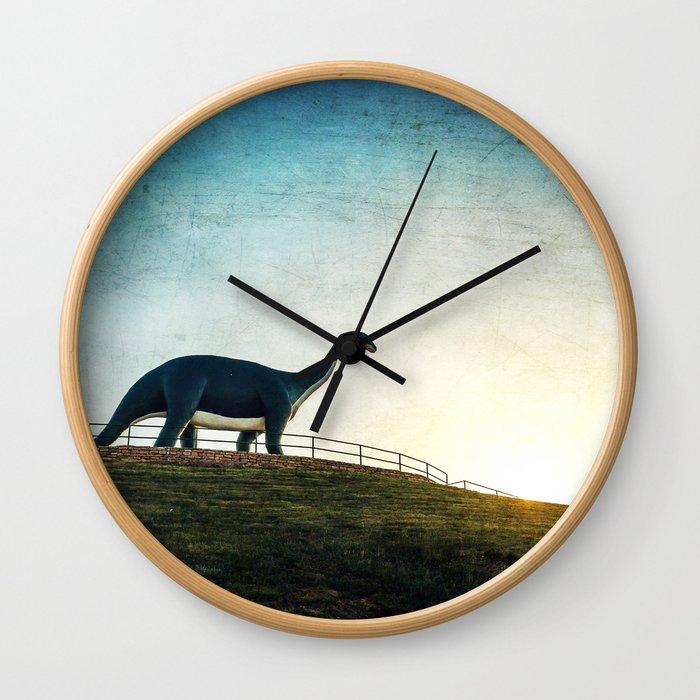 Where Dinosaurs Walk Wall Clock