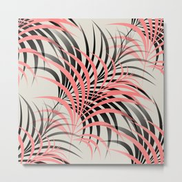 Flamingo Fling - Abstract Metal Print