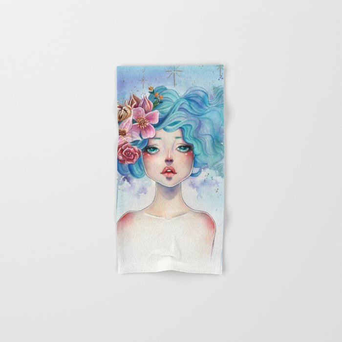 Blue Hair Hand & Bath Towel