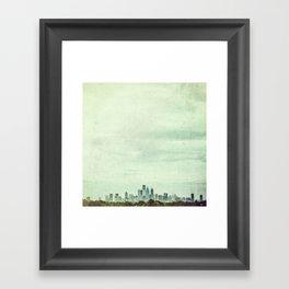 Sapphire City Framed Art Print