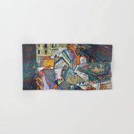 Egon Schiele - Edge of Town (Krumau Town Crescent III) 1918 Hand & Bath Towel