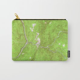 Bidwell Bar, CA from 1947 Vintage Map - High Quality Carry-All Pouch
