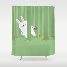 Easter Bunnyville Shower Curtain