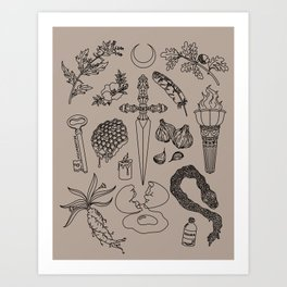 An Offering for Hecate (Hekate) Art Print