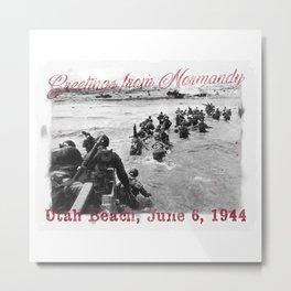 Greetings from Normandy - Utah Beach Metal Print