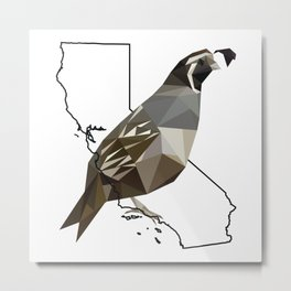 California – California Valley Quail Metal Print