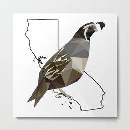 California – California Valley Quail Metal Print
