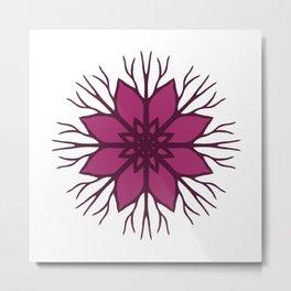 Flower Roots Wreath (Purple Pink) Metal Print