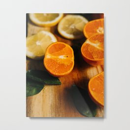 Mix of Oranges and Lemons Kitchen Art Metal Print