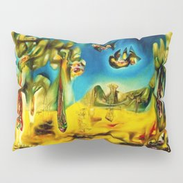 Invasion of the Night Abstract Expressionism landscape by R. Matta Pillow Sham