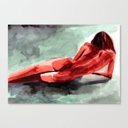 Watercolour Nude #1 - From Tricksters & Martyrs Canvas Print