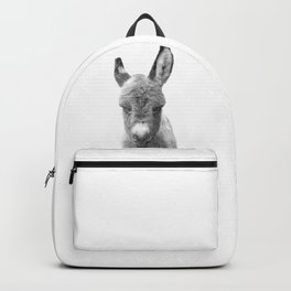 Black and White Baby Donkey Backpack