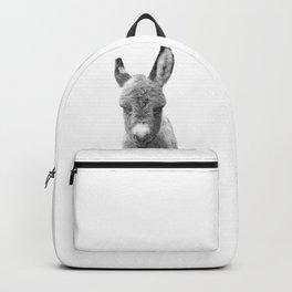 Black and White Baby Donkey Backpack