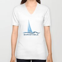 cape cod V-neck T-shirts featuring Barnstable - Cape Cod. by America Roadside