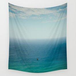 Small Sailboat, Big Ocean Wall Tapestry