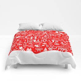 Happy Holidays Comforters