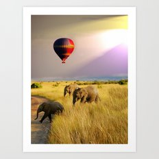 safari life Art Print