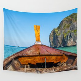 South Pacific Boat Launch Wall Tapestry