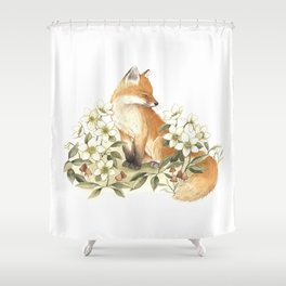 Springtime Fox Shower Curtain