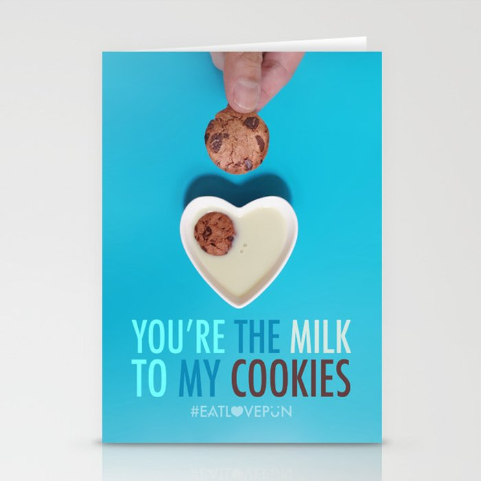 You're the Milk to My Cookies Stationery Cards