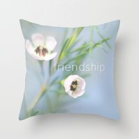 friendship Throw Pillows featuring Friendship by SUNLIGHT STUDIOS  Monika Strigel