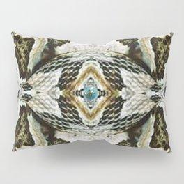 White Timber Snake Pillow Sham