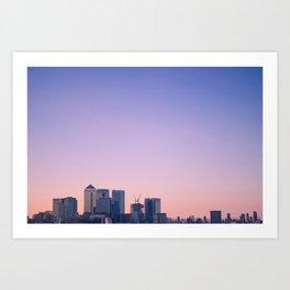 Summer Skyline Art Print