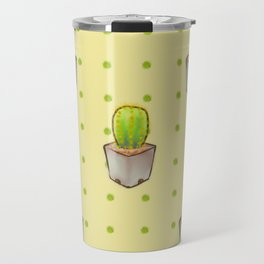 Small green cactus Travel Mug