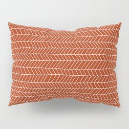 simle line pattern white on red Pillow Sham
