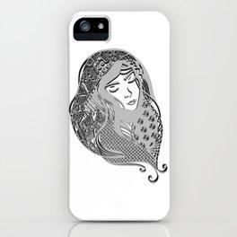 zentangle portrait 5 iPhone Case