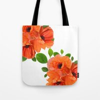 poppies Tote Bags featuring Poppies by Heaven7