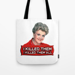 Angela Lansbury (Jessica Fletcher) -  Murder she wrote confession Tote Bag