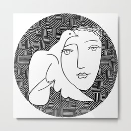 Picasso - Woman and dove Metal Print