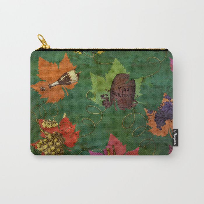 Autumn Grapes and Wine Carry-All Pouch
