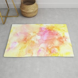 Pink and Yellow Abstract Rug
