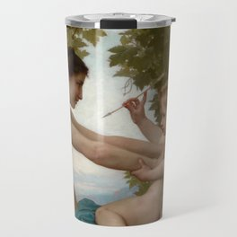 """William-Adolphe Bouguereau """"A Young Girl Defending Herself against Eros"""" Travel Mug"""
