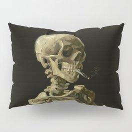 Vincent van Gogh - Skull of a Skeleton with Burning Cigarette Pillow Sham