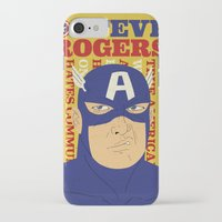steve rogers iPhone & iPod Cases featuring Steve Rogers/Captain America by Joseph Rey Velasquez