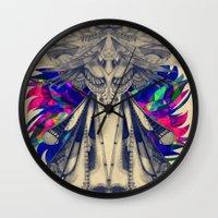 phoenix Wall Clocks featuring PHOENIX by Galvanise The Dog